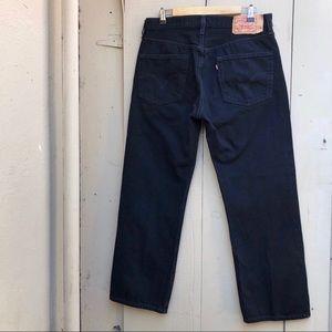 Levi's 501 Button-Fly Men's 36x30 Blck Denim Jeans